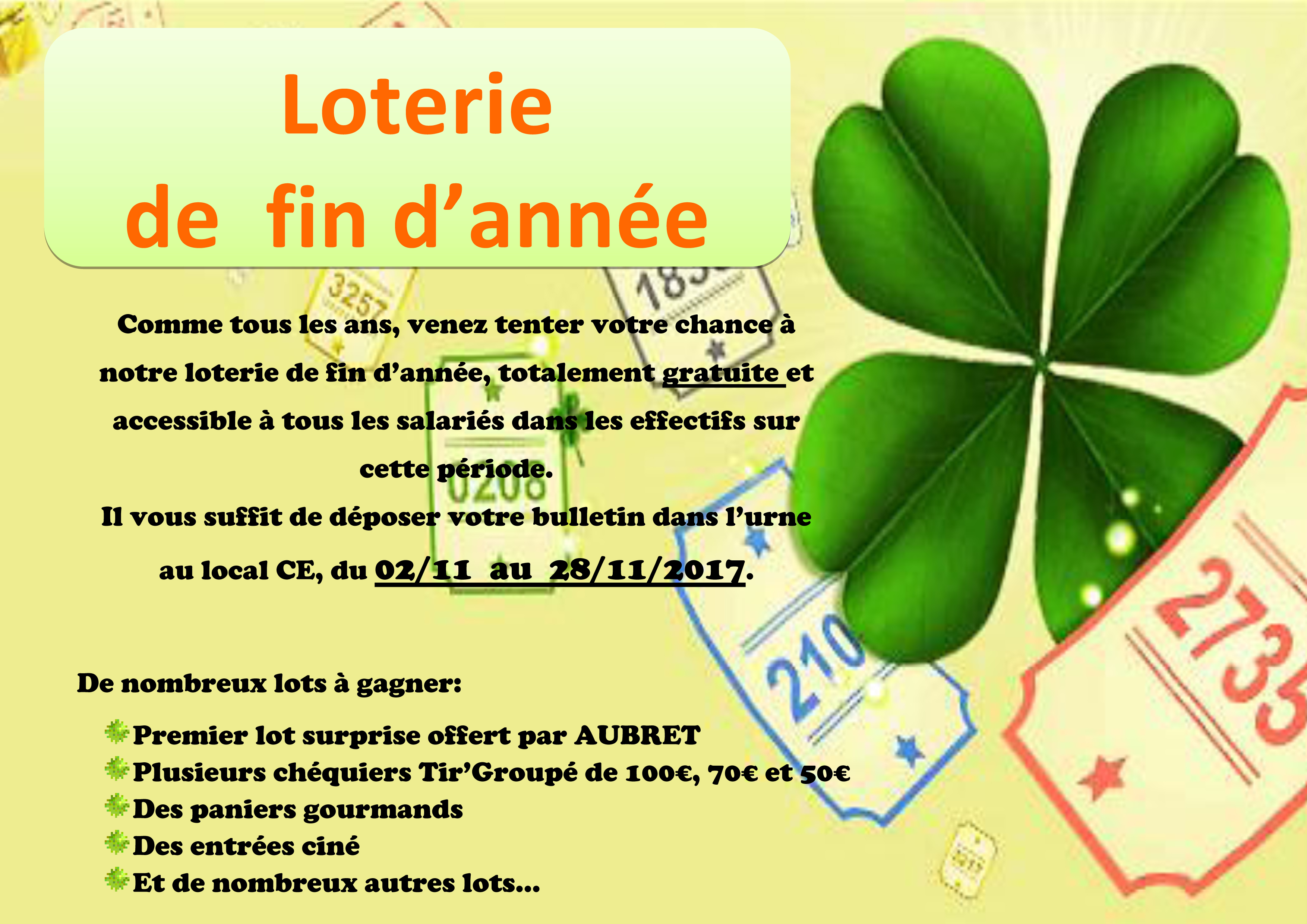 affiche LOTERIE 2017