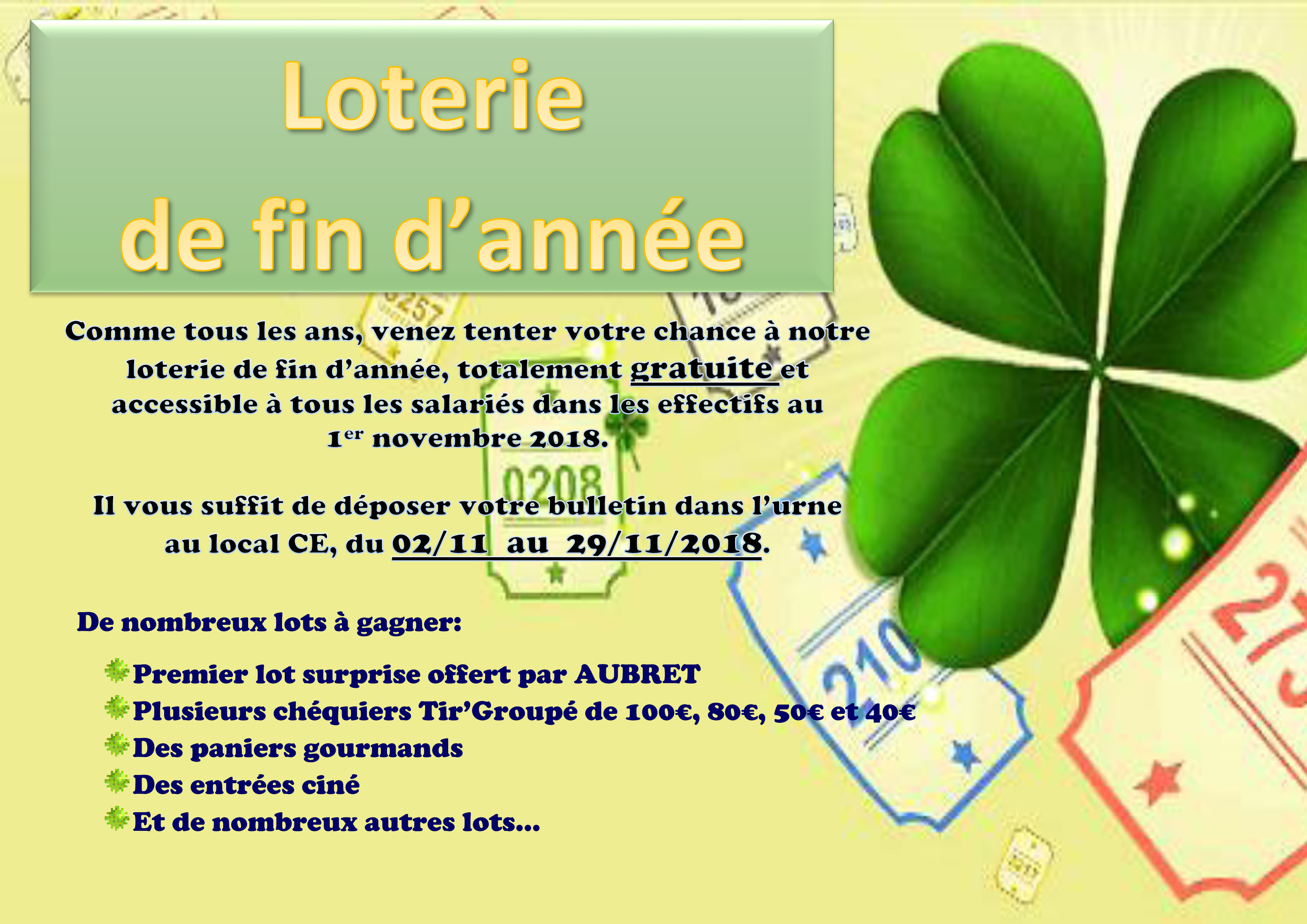 affiche loterie 2018