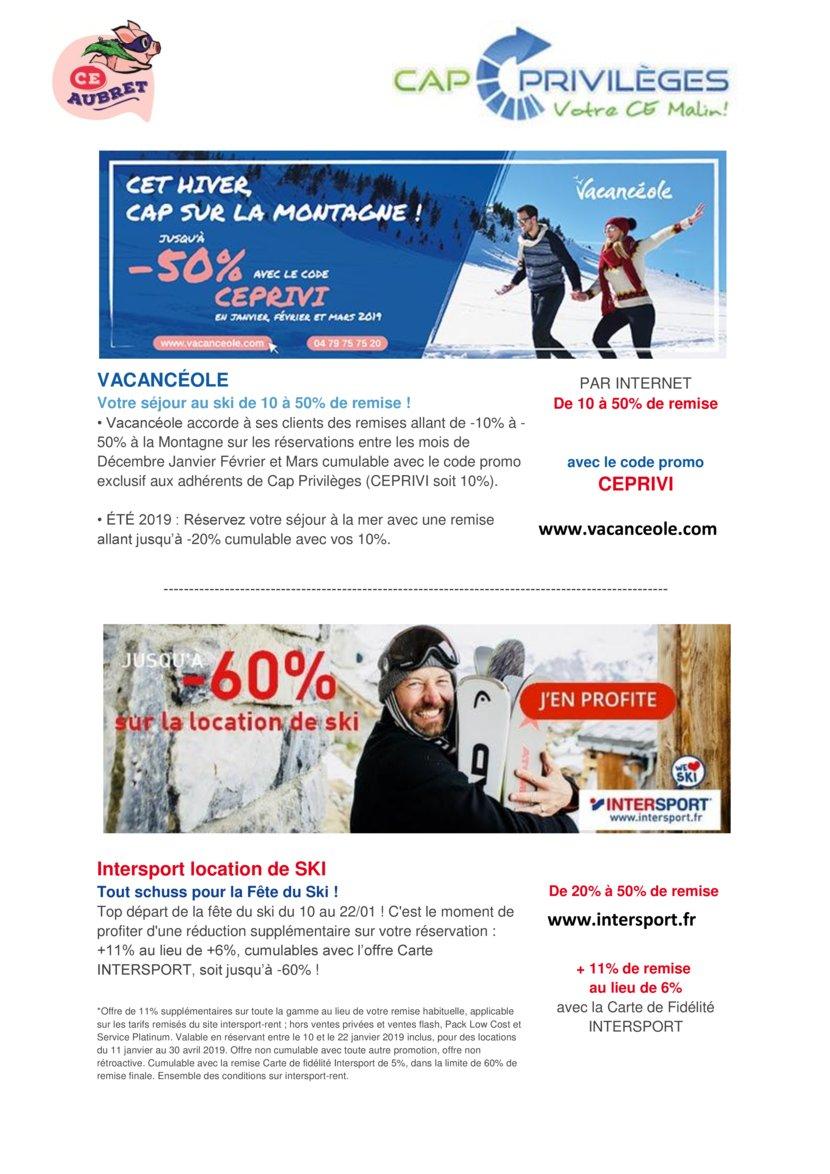 thumbnail of cap privileges offres ski 2019