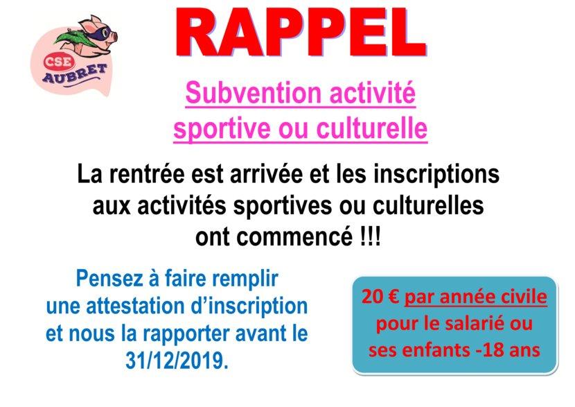thumbnail of RAPPEL Subvention activité sept