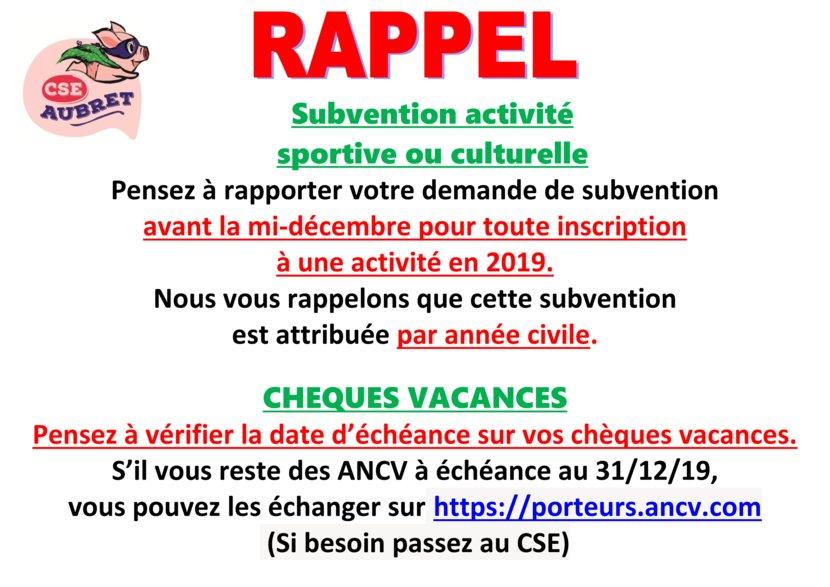 thumbnail of RAPPEL Subvention activité