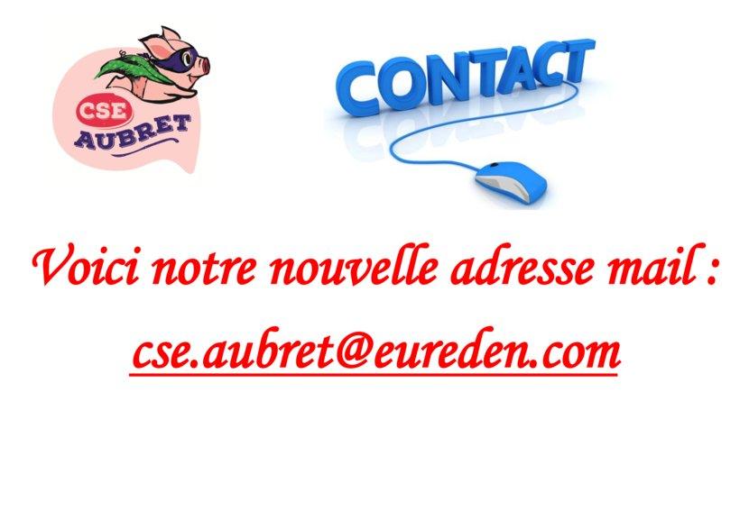 thumbnail of Voici notre nouvelle adresse mail