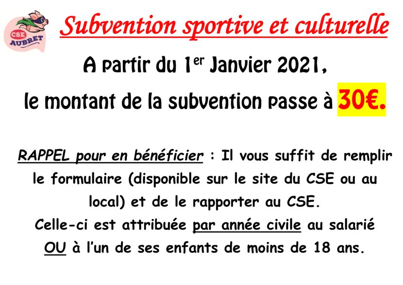 thumbnail of changement subvention sport 2021